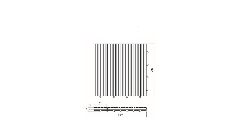 VỈ/ PVC GRID DECKING 300X300X24